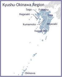 Basic Information Of Kyushu And Famous Place Map Of The Cherry Trees - Japan map 4 main islands